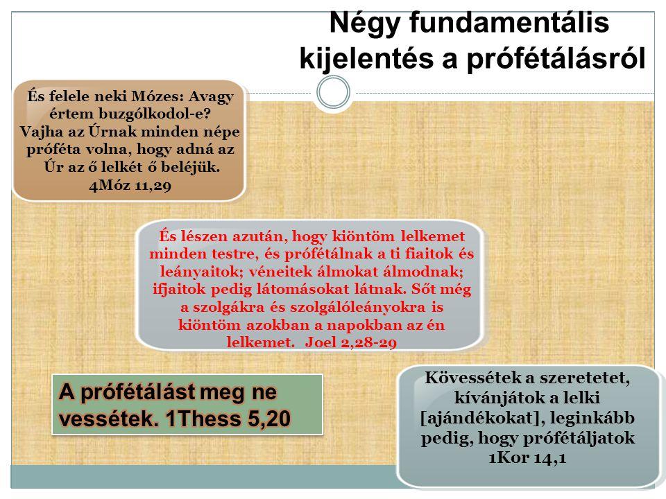 Négy fundamentális kijelentés a prófétálásról