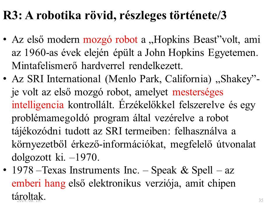 R3: A robotika rövid, részleges története/3
