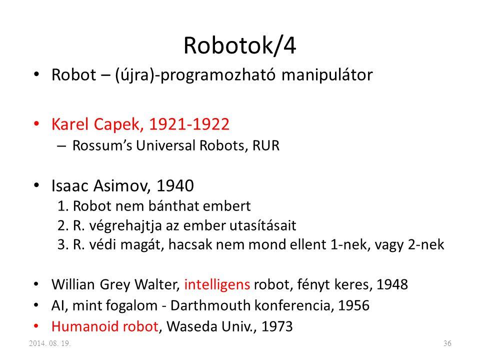 Robotok/4 Robot – (újra)-programozható manipulátor