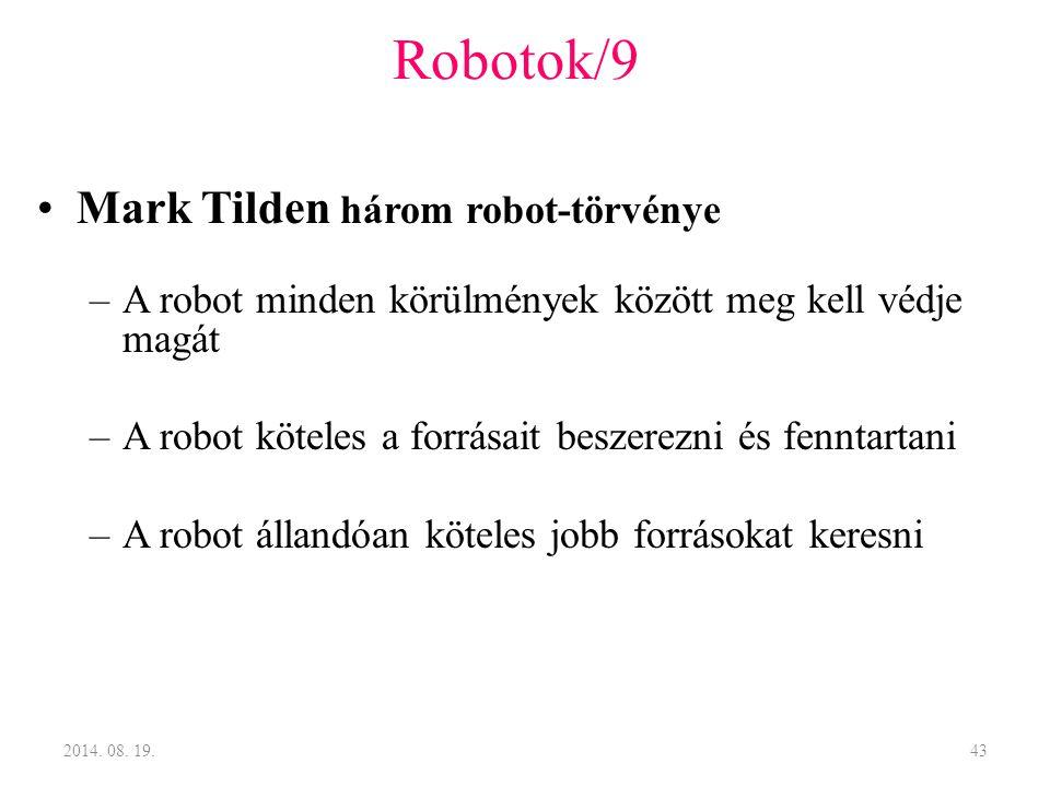 Robotok/9 Mark Tilden három robot-törvénye