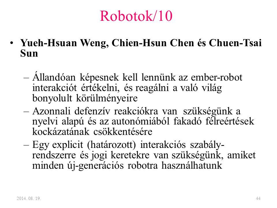 Robotok/10 Yueh-Hsuan Weng, Chien-Hsun Chen és Chuen-Tsai Sun