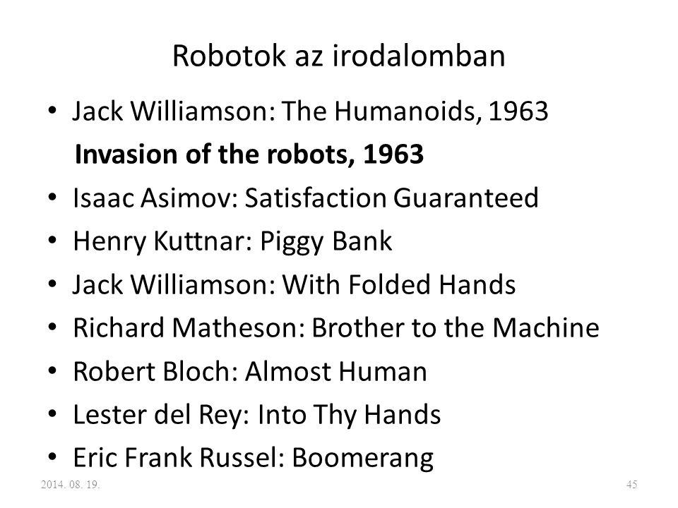 Robotok az irodalomban