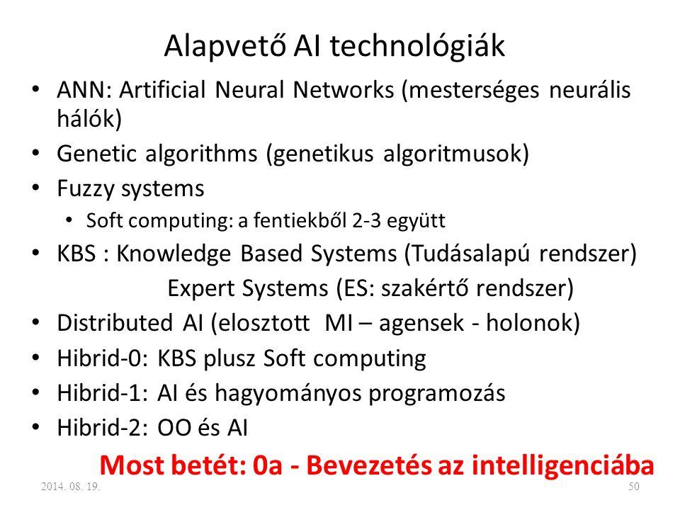 Alapvető AI technológiák