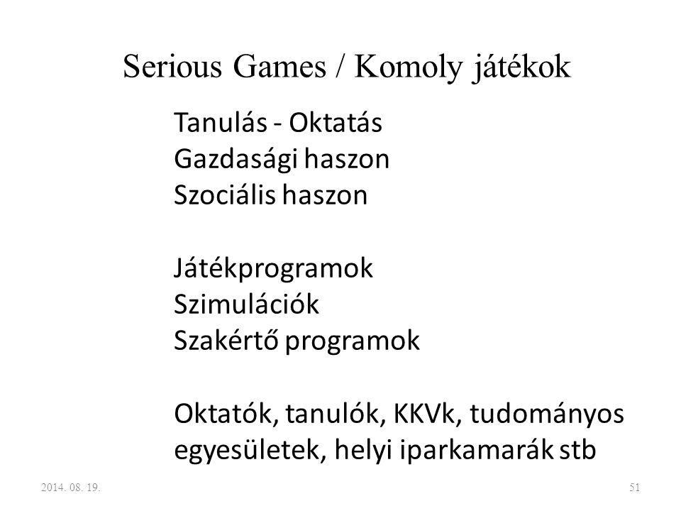 Serious Games / Komoly játékok