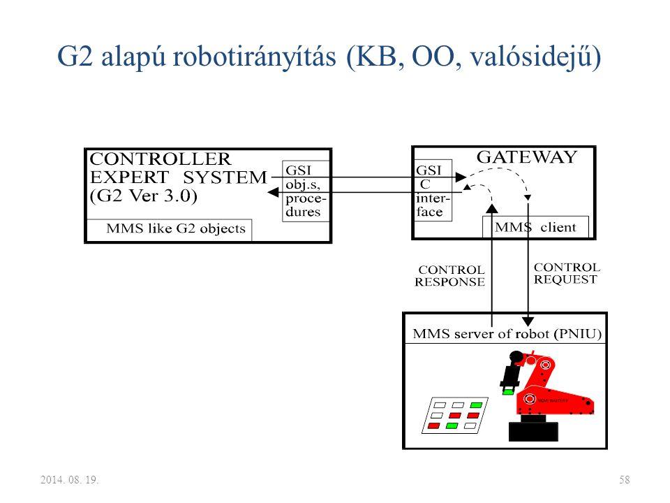 G2 alapú robotirányítás (KB, OO, valósidejű)
