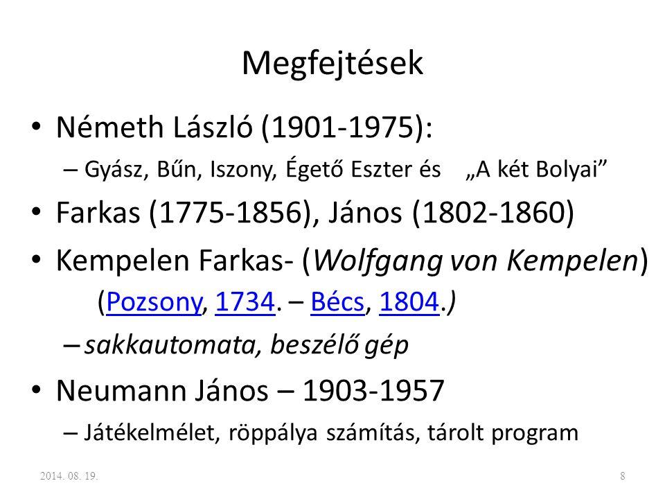 Megfejtések Németh László (1901-1975):