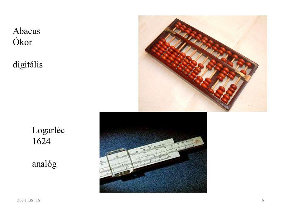 Abacus Ókor digitális Logarléc 1624 analóg 2017.04.05.