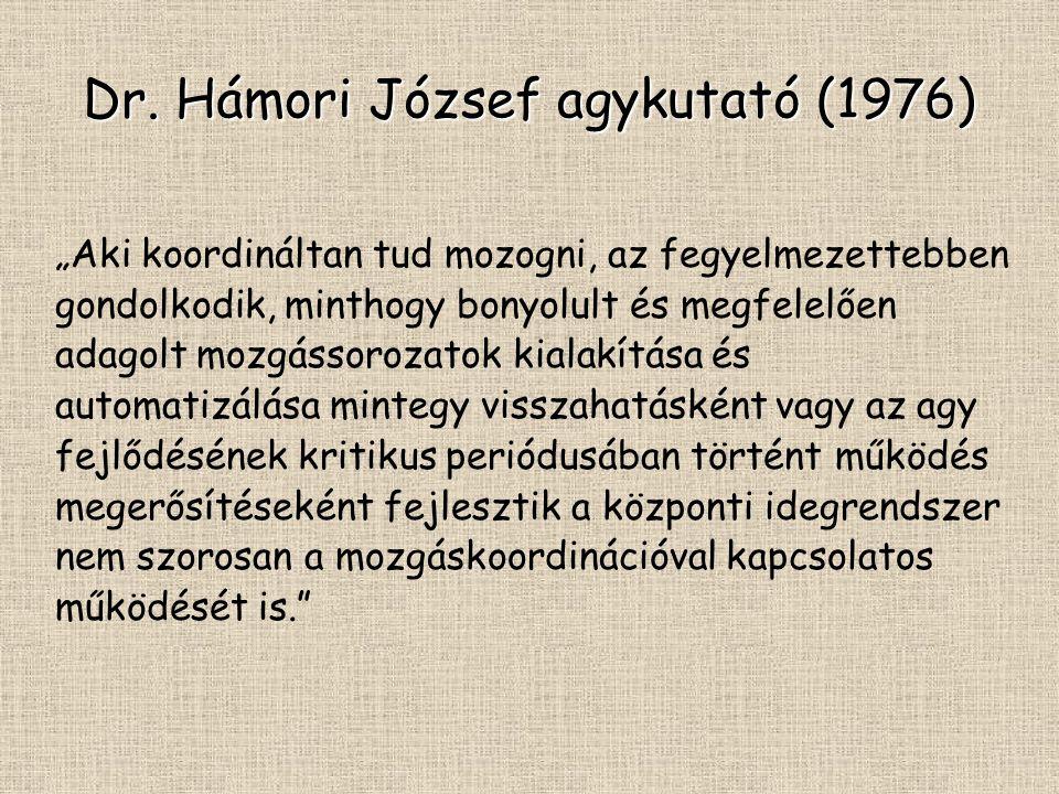 Dr. Hámori József agykutató (1976)