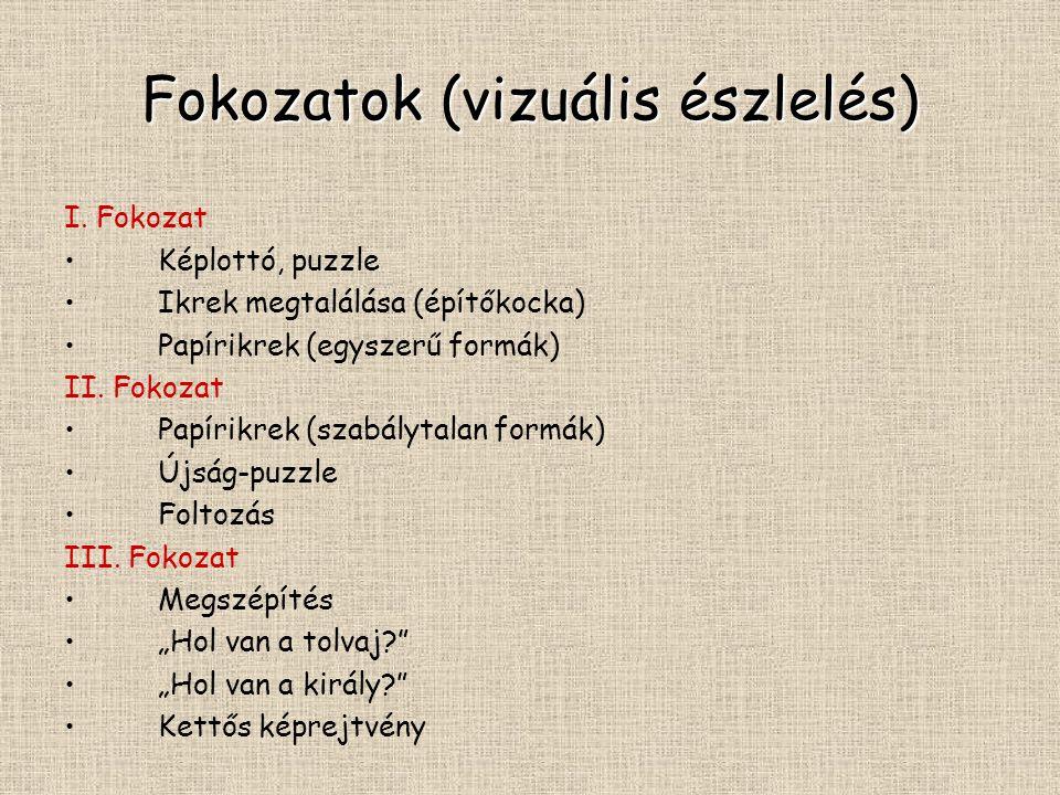 Fokozatok (vizuális észlelés)