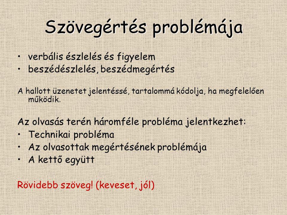 Szövegértés problémája