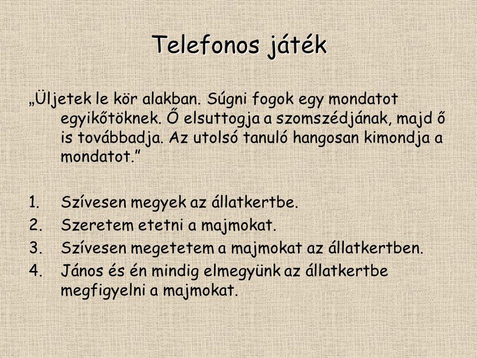 Telefonos játék