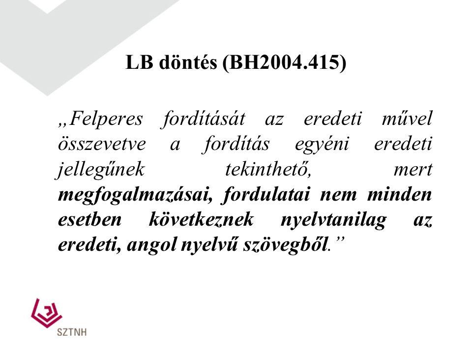 LB döntés (BH2004.415)