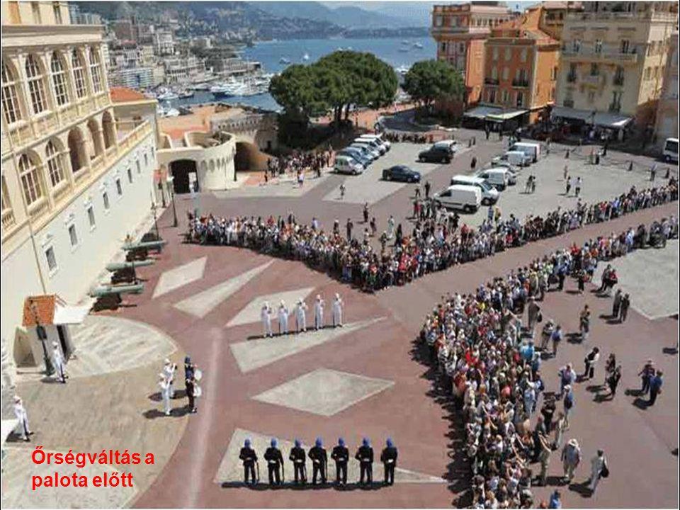 Őrségváltás a palota előtt