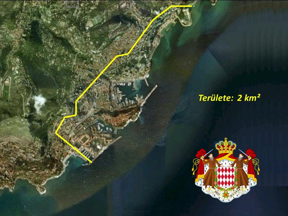Területe: 2 km²