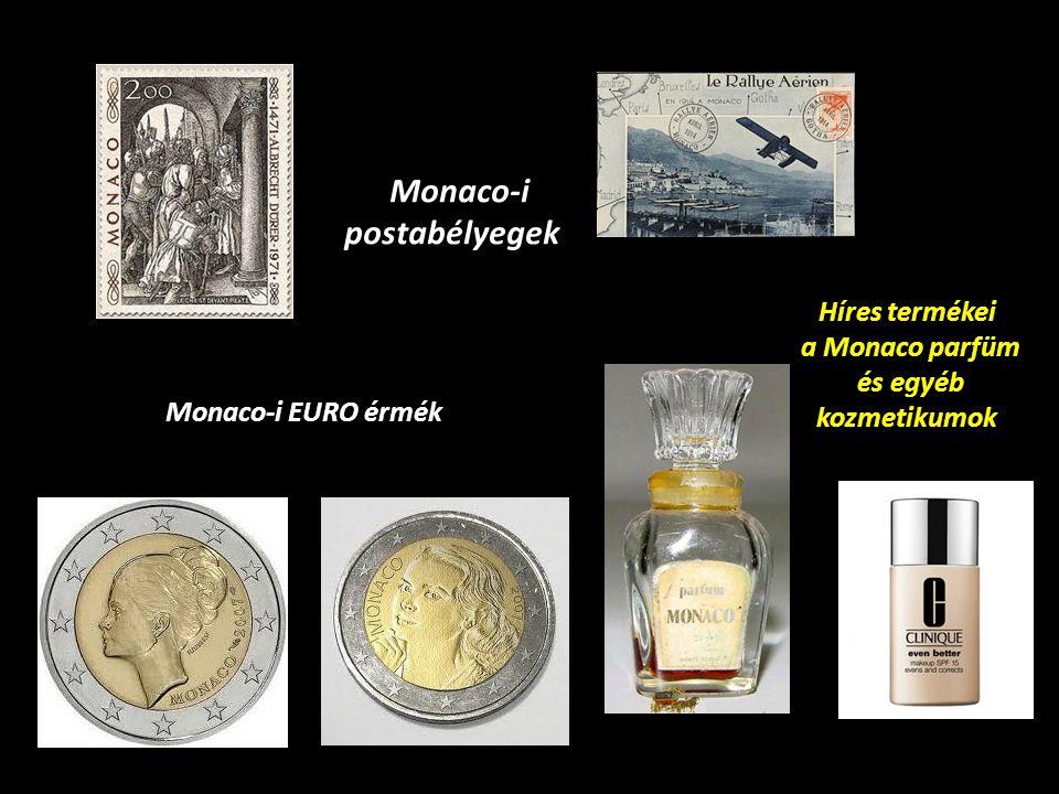 Monaco-i postabélyegek