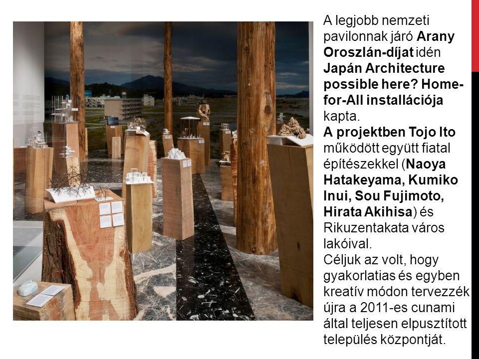 A legjobb nemzeti pavilonnak járó Arany Oroszlán-díjat idén Japán Architecture possible here Home-for-All installációja kapta.