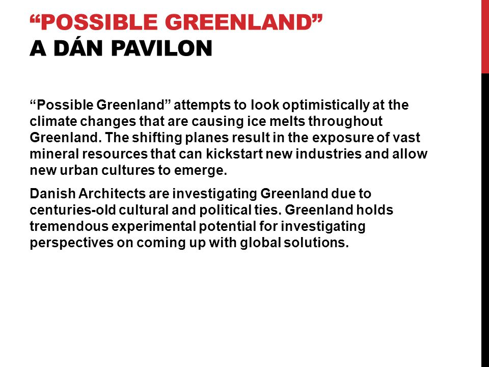 Possible Greenland a dán pavilon