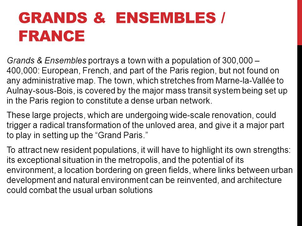 Grands & Ensembles / France