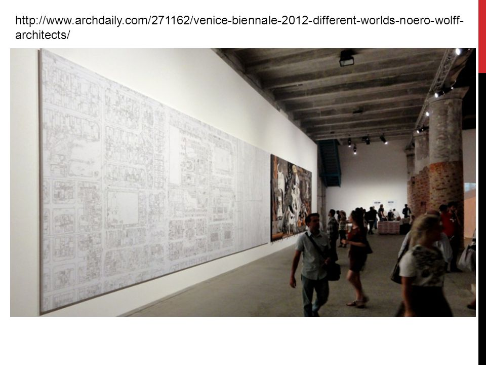 http://www.archdaily.com/271162/venice-biennale-2012-different-worlds-noero-wolff-architects/