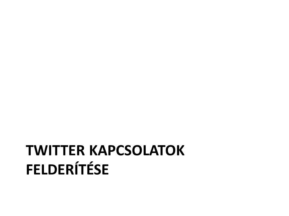 Twitter kapcsolatok felderítése