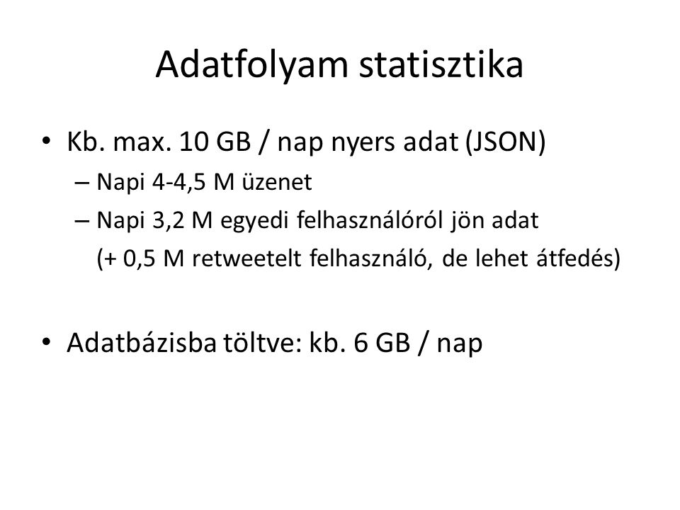 Adatfolyam statisztika