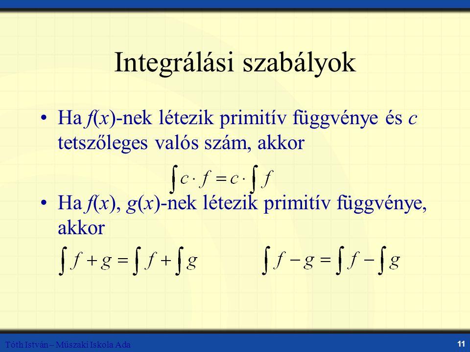 Integrálási szabályok