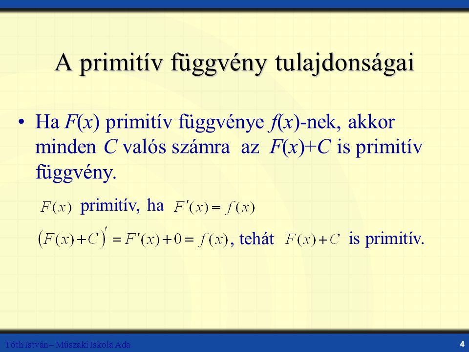 A primitív függvény tulajdonságai