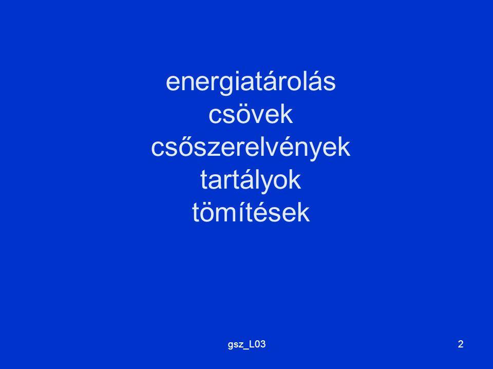 energiatárolás csövek csőszerelvények tartályok tömítések