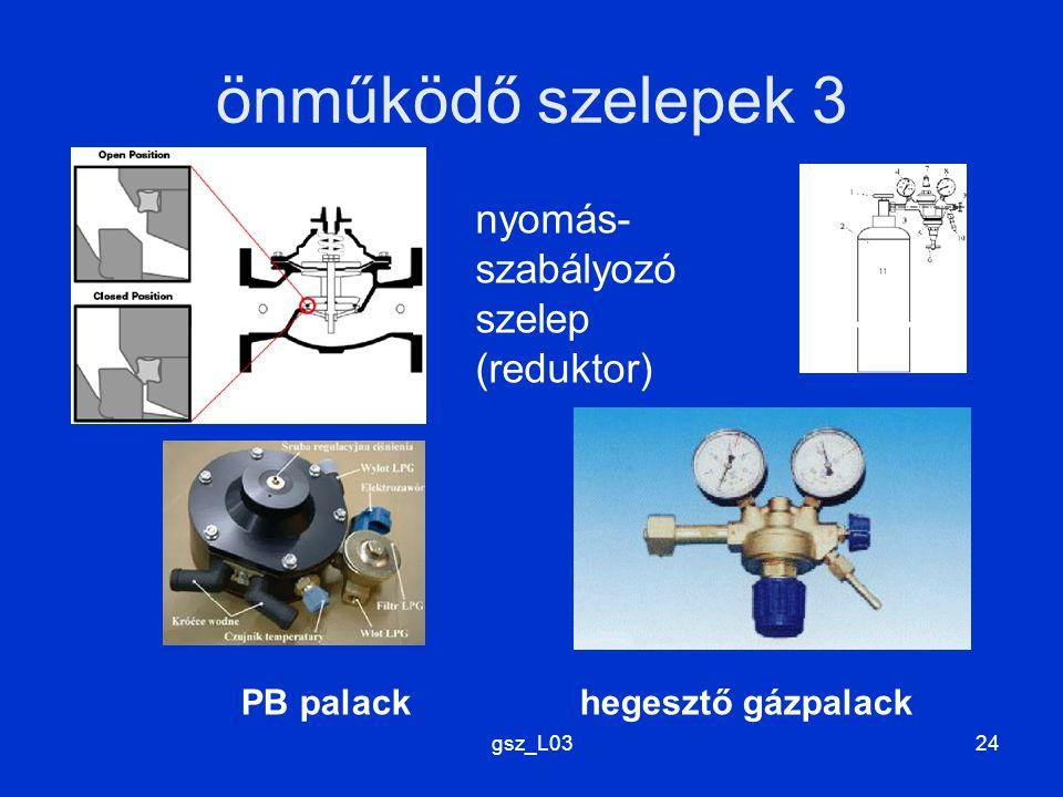 önműködő szelepek 3 nyomás- szabályozó szelep (reduktor)