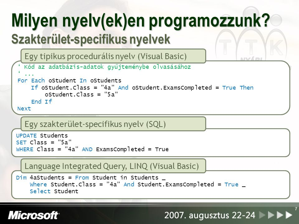 Milyen nyelv(ek)en programozzunk Szakterület-specifikus nyelvek