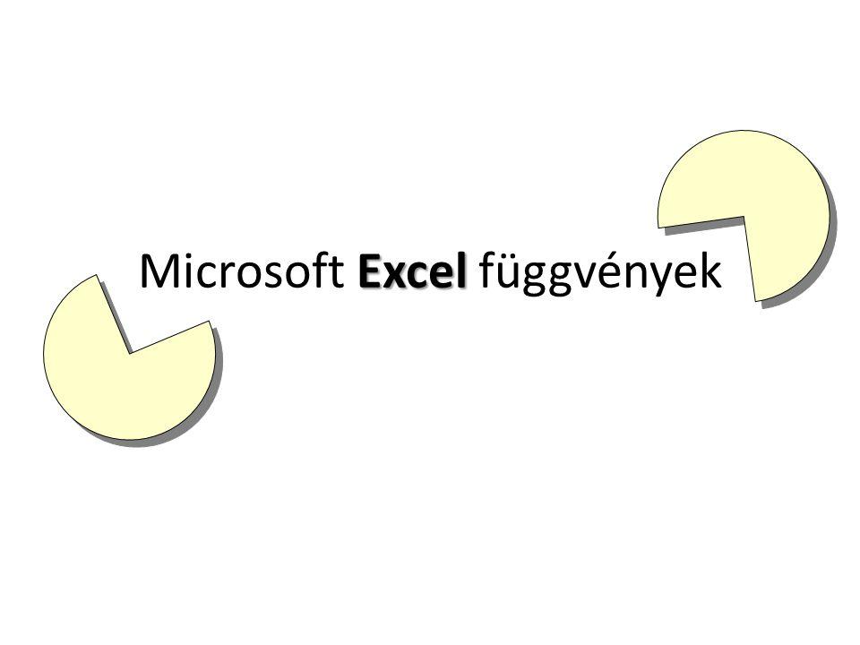 Microsoft Excel függvények