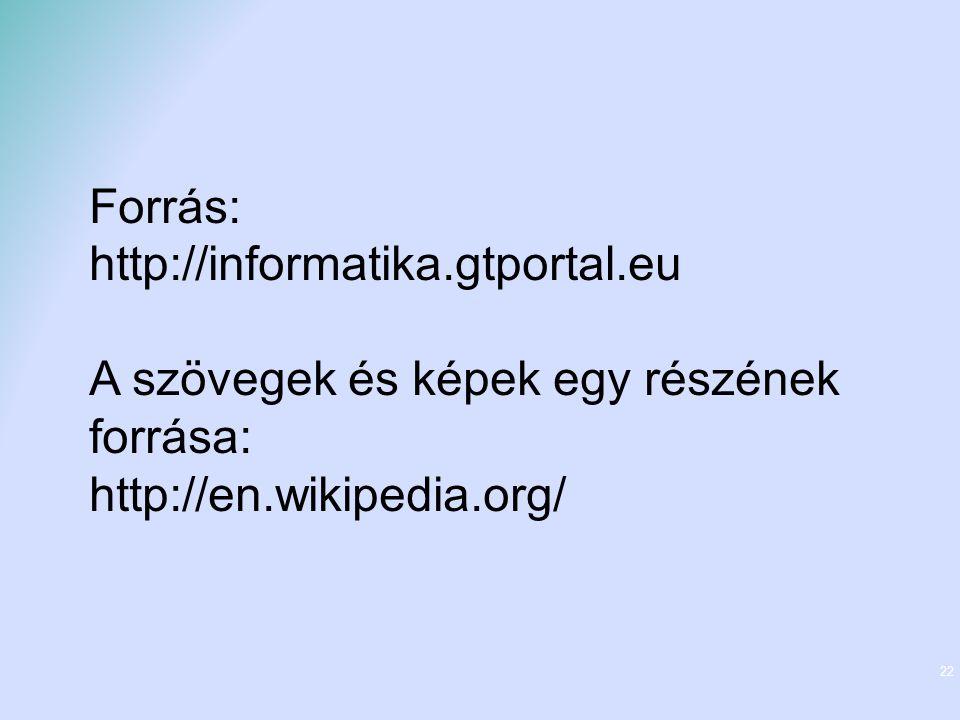 Forrás: http://informatika.gtportal.eu.