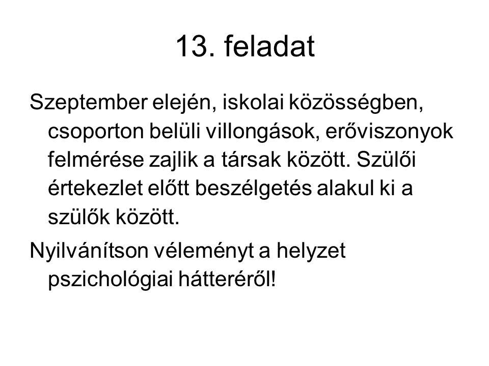 13. feladat