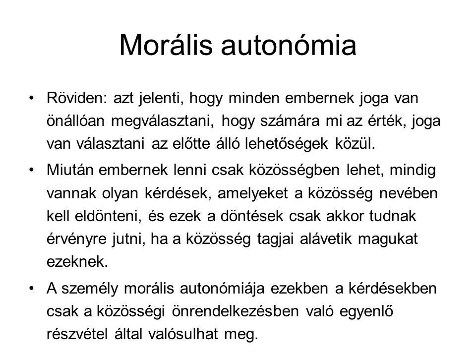 Morális autonómia