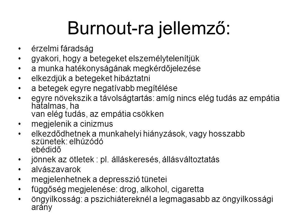 Burnout-ra jellemző: érzelmi fáradság