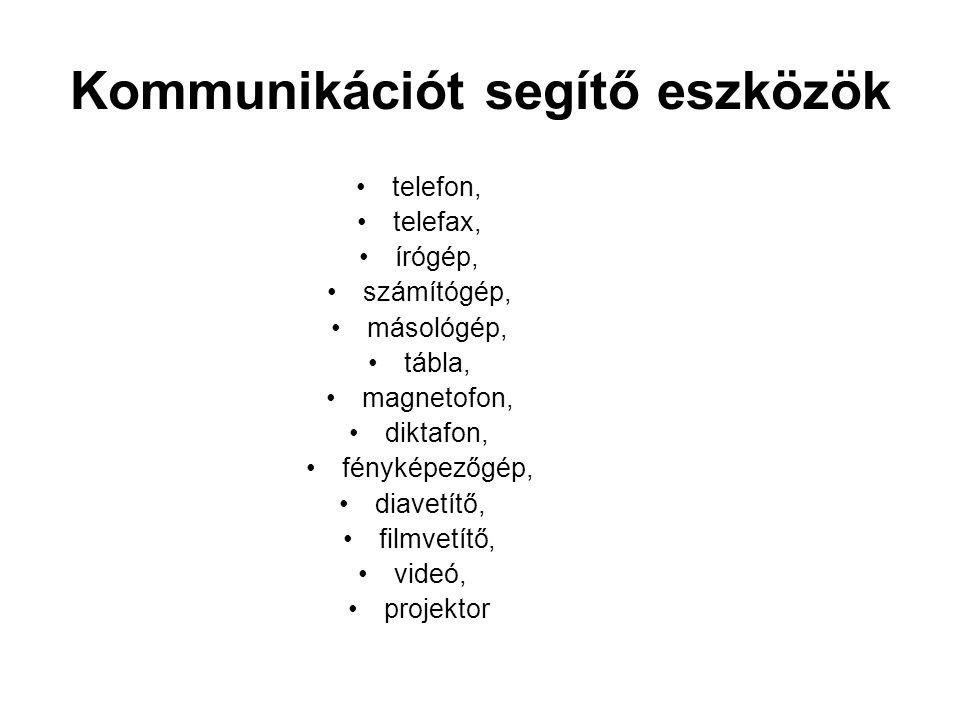 Kommunikációt segítő eszközök