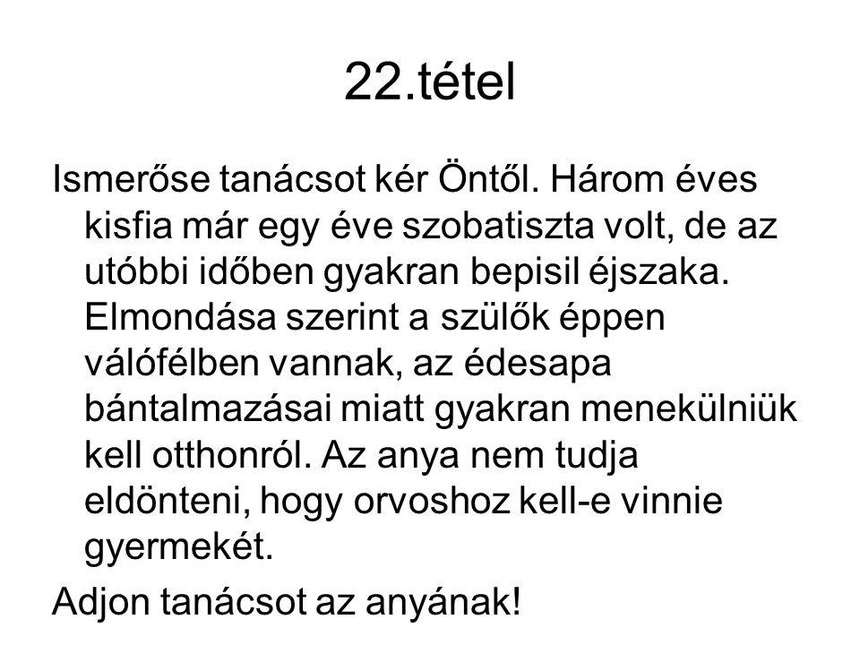 22.tétel