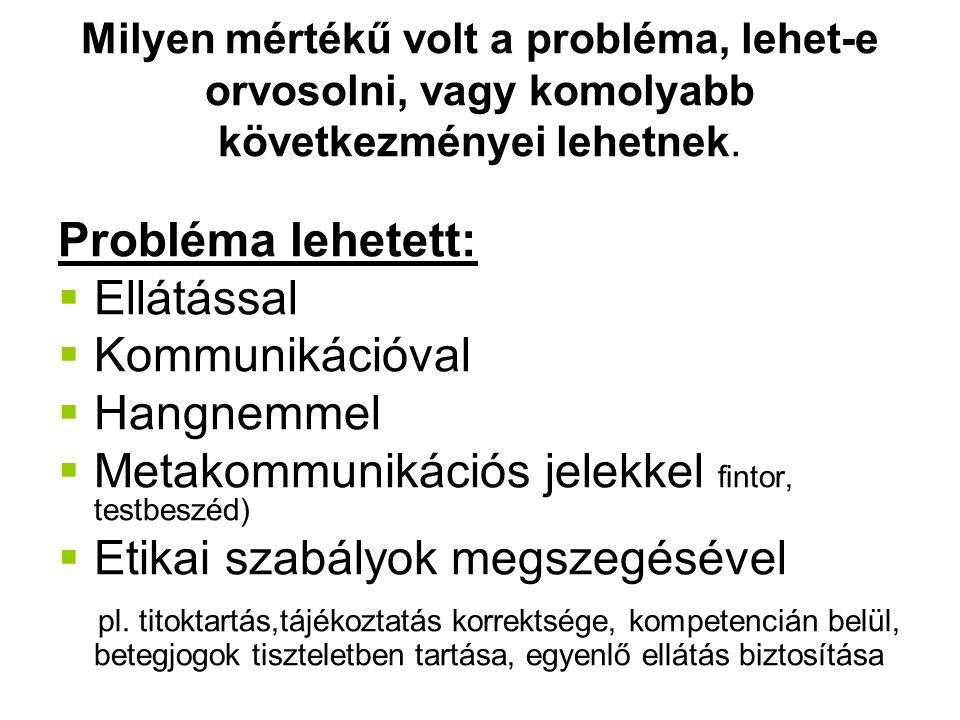 Metakommunikációs jelekkel fintor, testbeszéd)