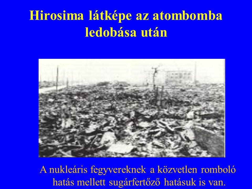 Hirosima látképe az atombomba ledobása után