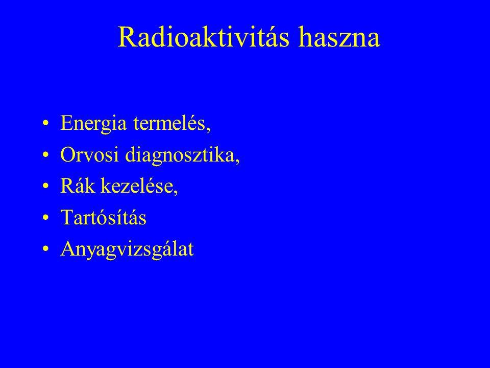 Radioaktivitás haszna
