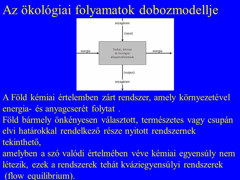 Az ökológiai folyamatok dobozmodellje