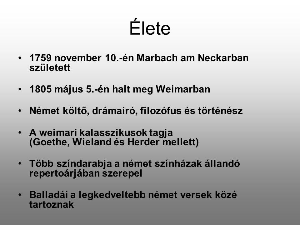 Élete 1759 november 10.-én Marbach am Neckarban született