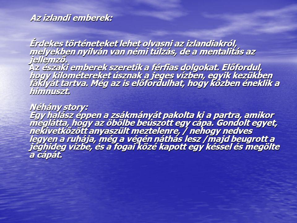 Az izlandi emberek: