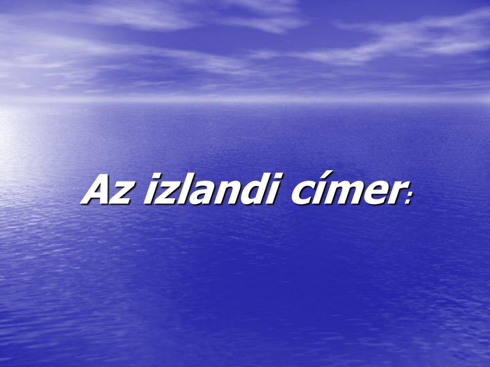 Az izlandi címer:
