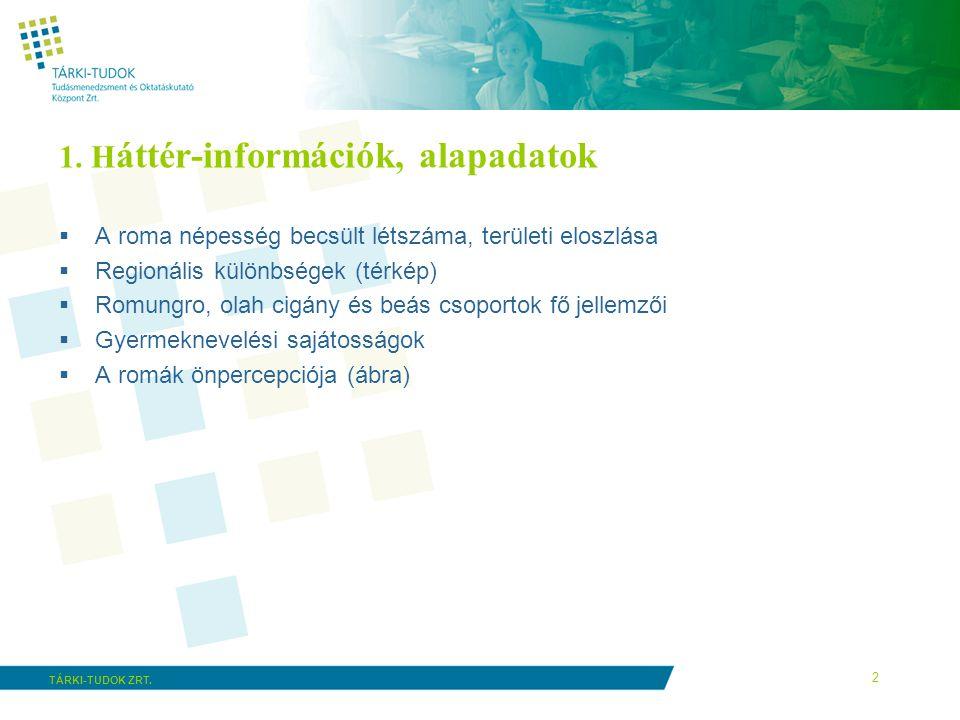 1. Háttér-információk, alapadatok