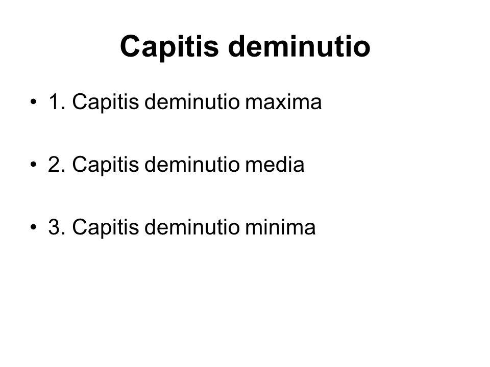 Capitis deminutio 1. Capitis deminutio maxima