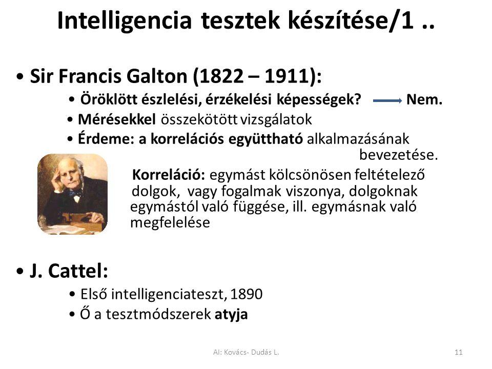 Intelligencia tesztek készítése/1 ..