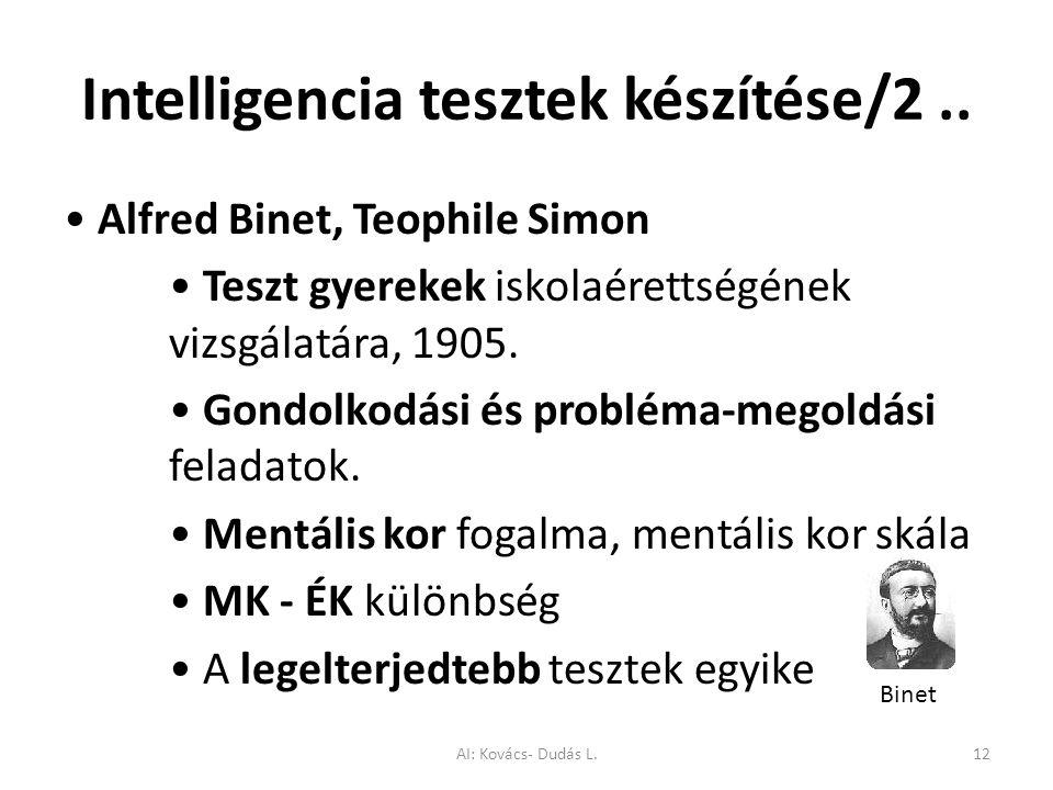 Intelligencia tesztek készítése/2 ..