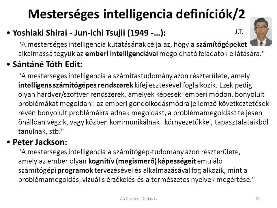 Mesterséges intelligencia definíciók/2
