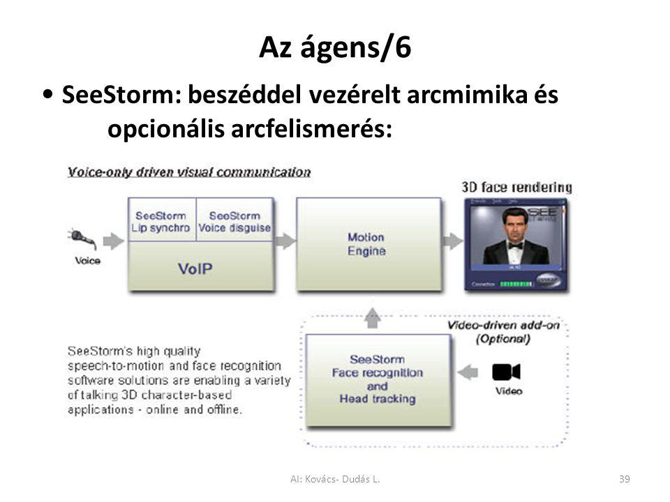 Az ágens/6 • SeeStorm: beszéddel vezérelt arcmimika és opcionális arcfelismerés: AI: Kovács- Dudás L.